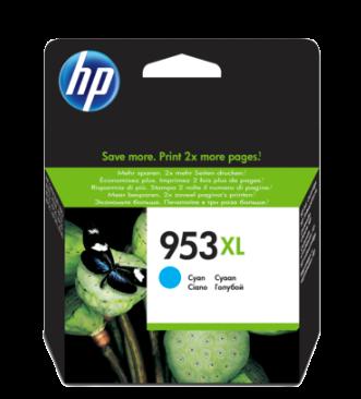 HP 953XL High Yield Cyan Original Ink Cartridge - F6U16AE