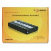 Delock 3.5 External enclosure SATA HDD > USB 3.0 - 42478