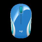 Logitech Wireless M187 Mini Mouse Blue - 910-002733