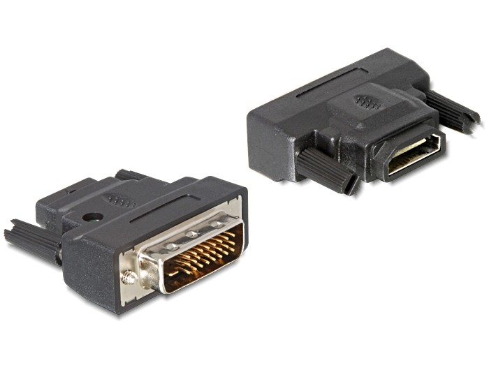 Delock Adapter DVI-25pin male > HDMI female with LED - 65024