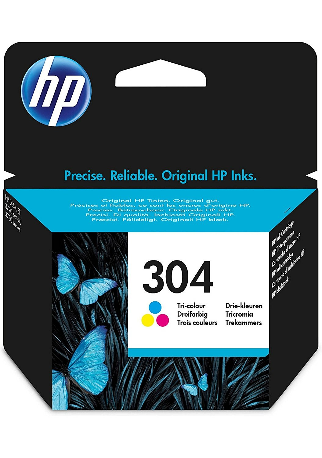 HP 304 Tri-color Original Ink Cartridge - N9K05AE