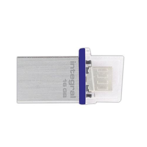 Integral 16GB Micro OTG and USB 2.0 Flash Drive - INFD16GBMIC-OTG