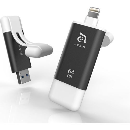 iKlips II Apple Lightning Flash Drive 64GB (Black) - ADRAD64KL2GY-1