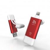 iKlips II Apple Lightning Flash Drive 64GB (Red) - ADRAD64KL2RD-1