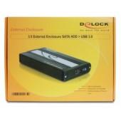 Delock 3.5 External enclosure SATA HDD > USB 3.0 - 42478