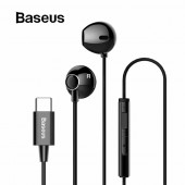 Baseus Encok C06 Wired Earphones - Black - PB1893Z-1