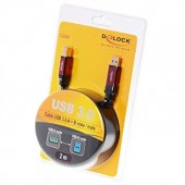 Delock USB3.0 RED A-B Cable - 82757