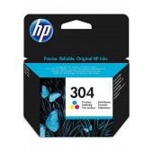 HP 304 Tri-color Original Ink Cartridge - N9K05AE