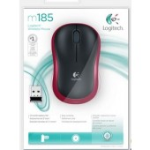 Logitech Wireless Mouse M185 Red - 910-002240