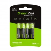 Green Cell Rechargeable AA/4 2600mAh - HR01